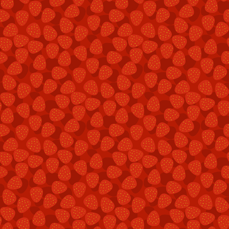 Cartoon fresh strawberry fruits seamless pattern background berry summer design vector illustration. Фото со стока - 88348931