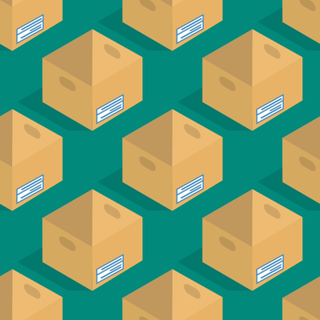 Different box vector isometric icons isolated pack move service or gift container packaging illustration Ilustração