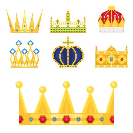 Crown king vintage premium white badge heraldic ornament luxury kingdomsign vector illustration. Imagens - 88349408