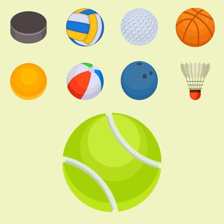 De reeks ballen isoleerde toernooien wint om van het de hobbyspel van de mandvoetbal het gebied van het het materiaalgebied vectorillustratie. Recreatie leer groep traditioneel verschillend ontwerp.
