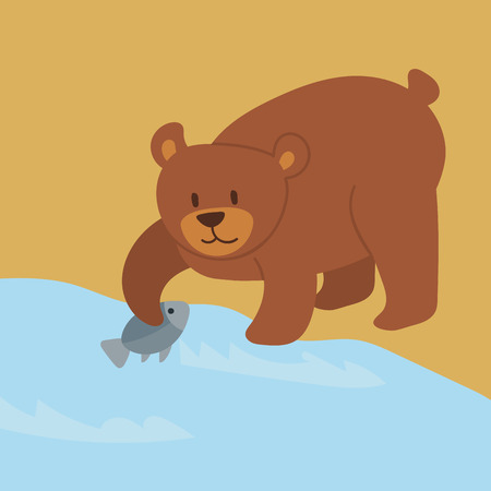 Cartoon bear character teddy pose vector background wild grizzly cute illustration adorable animal design. Friendly zoo cheerful mascot.