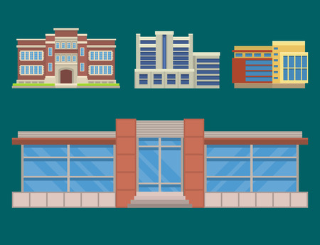 Office architecture illustration.