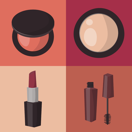 Makeup icons. Illustration