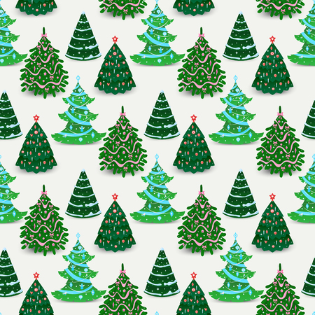 Kerstboom ornament ster xmas cadeau naadloze patroon ontwerp vakantie viering wintertijd feest plant.