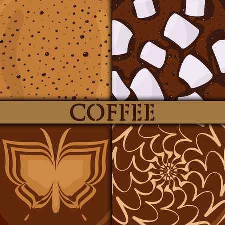 Brown background coffee bubble chocolate cocoa perfect for menu assortment vector illustration. Ilustração