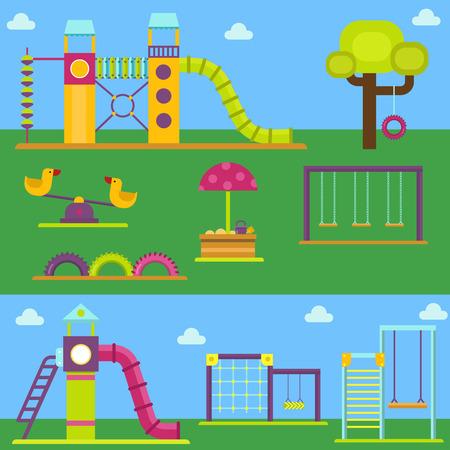 놀이터 놀이 유원지 놀이터 유원지 놀이 장소 스톡 콘텐츠 - 90655012