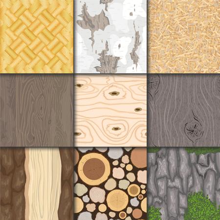 Wood background vector seamless pattern Ilustração
