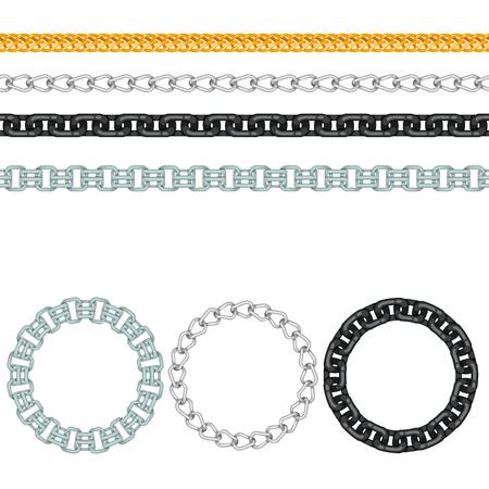 Cadenas vinculación vínculo de la fuerza de vectores patrón transparente de metal vinculado partes y equipo de hierro protección fuerte signo brillante diseño de fondo. Foto de archivo - 91474215