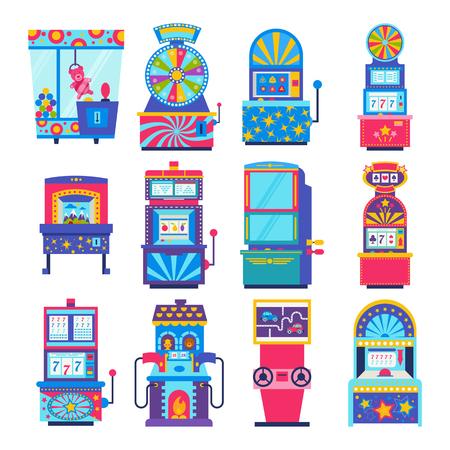 Arcade gambling games in casino. Illustration