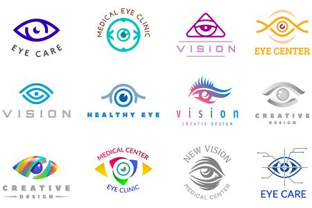 目のアイコンベクトル目玉アイコン目は、白い背景に隔離された医療光学会社監督イラストの視力とまつげを見ます 写真素材 - 93462473