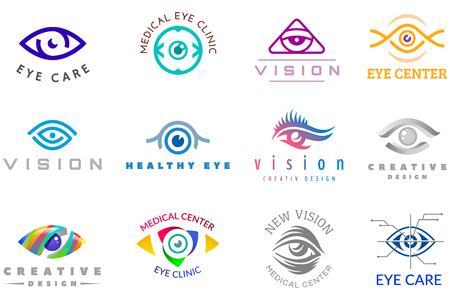 Eye icon vector eyeball icon eyes look vision and eyelashes of medical care optic company supervision illustration isolated on white background