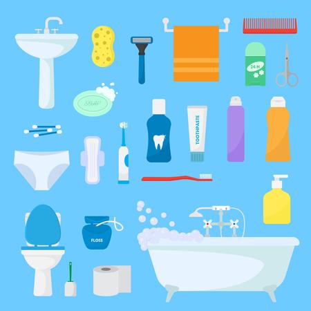 衛生的なパーソナルケアベクトルバスアメニティセットの衛生用バスアメニティとバスルームアクセサリーソープシャンプーまたはシャワージェル