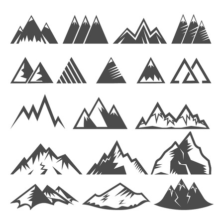 Set of mountain logo
