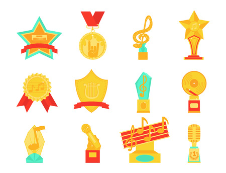 Music vector award statuette m