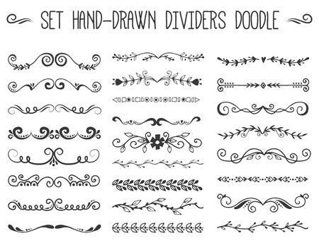 Decorative divider book typography ornament design set