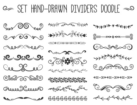 Decorative divider book typography ornament design set Stock Vector - 96316932