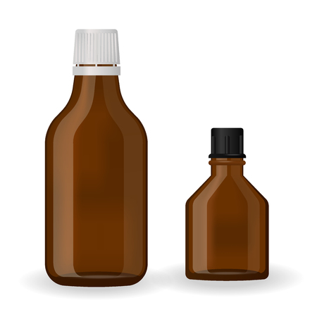 Pharmaceutical Bottle pack template Stock Illustratie