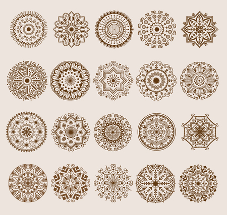 Hand drawn henna abstract mandala pattern flowers and paisley doodle coloring page. Henna decorative mandala pattern ethnic flower decoration mandala pattern ornament floral indian design