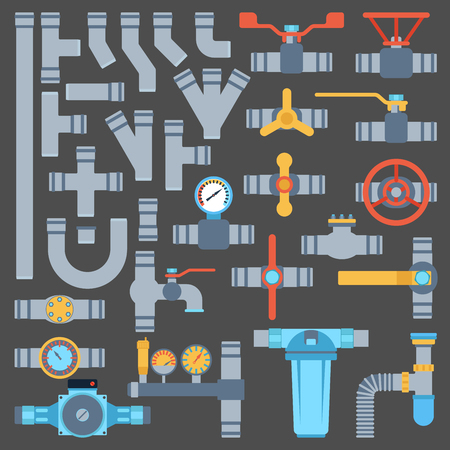 Plumbing elements set Ilustrace