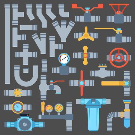 Plumbing elements set Illustration