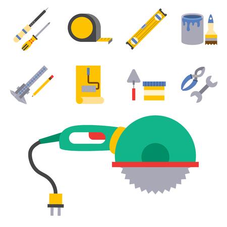 Construction vector worker equipment set