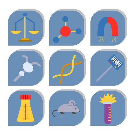 Lab icon vector symbols set
