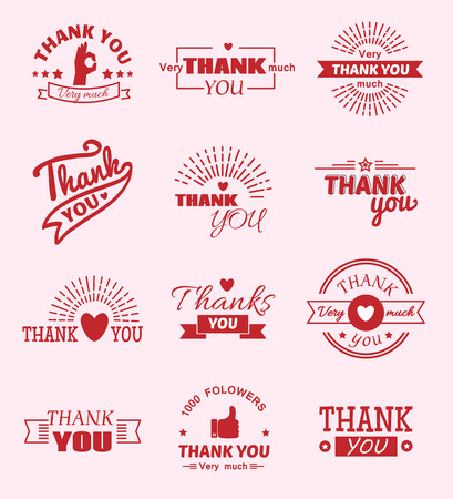 Thank you quote slogan vector design