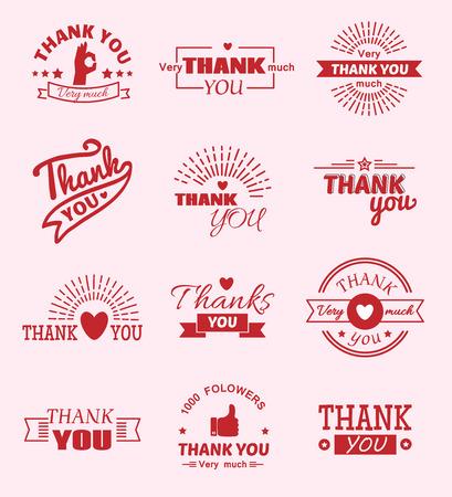 Thank you quote slogan vector design