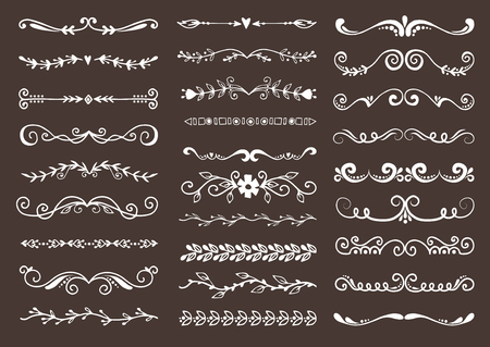Dividers elements to breaks paragraph vector set Stock Vector - 96756171