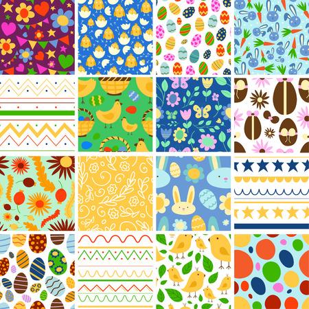 Vector Pâques printemps fond traditionnel illustration transparente motif avec conception de carte d'oeuf Pâques vacances célébration fête fond d'écran salutation lapin coloré et éléments naturels tissu textile Banque d'images - 96905785