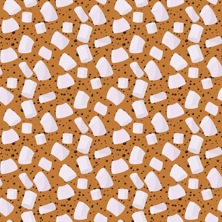 Marshmallows seamless pattern vector