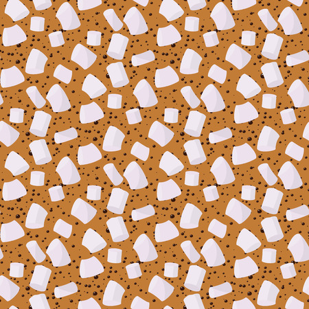 Marshmallows seamless pattern vector