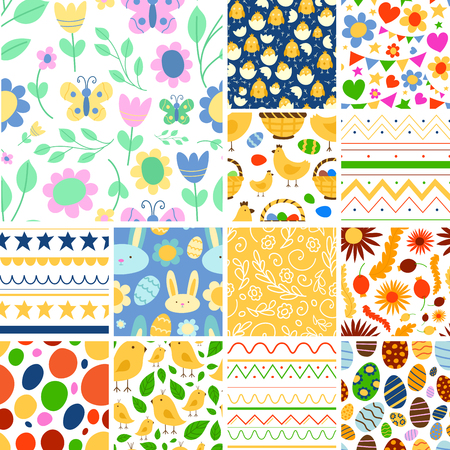 Easter seamless pattern background collection