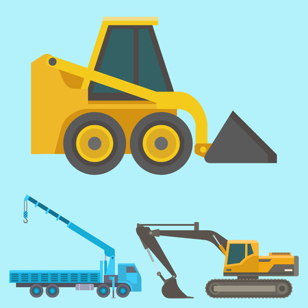 Construction delivery truck vector transportation vehicle construct and road trucking machine equipment. Stock Vector - 97791549