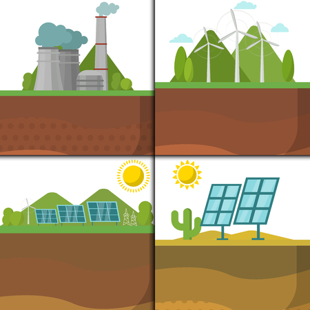 Power plant illustration.