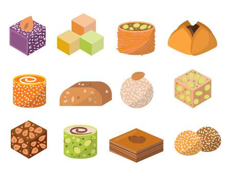 Sweets dessert food illustration