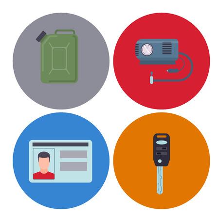 Driver elements and equipment illustration. Illustration