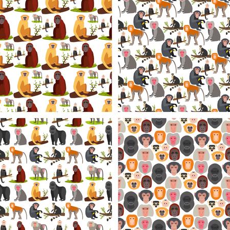 Monkey character breads image illustration