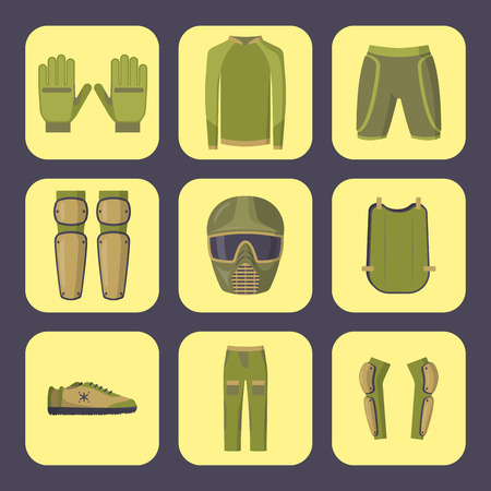 Paintball protection uniform image illustration