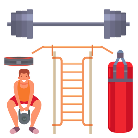 Fitness gym sporty club image illustration Illustration