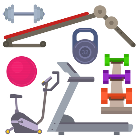 Fitness gym equipment graphic design Illustration.