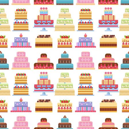 Collection de divers gâteaux sur fond blanc. frais frais savoureux dessert à la crème . délicieux boulangerie maison fraîche maison de boulangerie maison seamless fond Banque d'images - 99358533