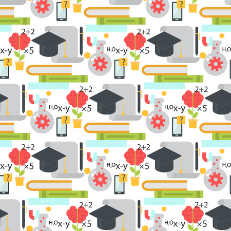 fondo sin fisuras aprendizaje de aprendizaje sin fisuras de educación de educación de aprendizaje de educación de aprendizaje de aprendizaje de educación de personaje de ilustración vectorial de la etiqueta de la aptitud .