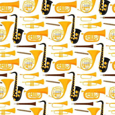 Instruments de musique instrument acoustique instrument instrument instrument seamless saxophone fond vecteur illustration Banque d'images - 103021340