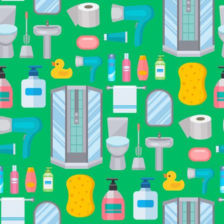 Baño baño baño baño baño limpio diseño plano ilustración de la plantilla de diseño sin fisuras fondo . Foto de archivo - 103021354
