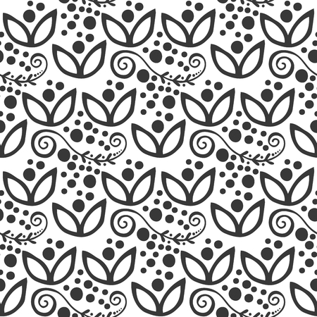 Floral seamless swirl mehendi flower pattern background ornament vector illustration textile style tribal ornate. Illustration