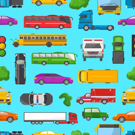 Atasco de tráfico vector transporte coche vehículo y autobús en la hora punta en el conjunto de ilustración de vector de carretera carretera de congestión de transporte de automóviles en línea atascada