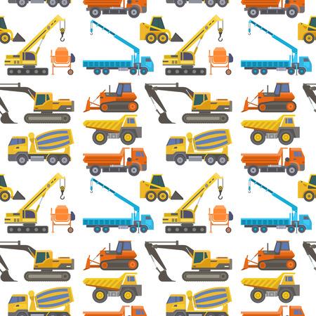 Camion de livraison de construction vecteur construction de véhicule de transport et équipement de machine de camionnage routier grande plate-forme camion industriel illustration de fond transparente.