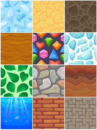 Building background wall vector brick texture of brickwall or stonewall with textured tile abstract pattern seamless illustration set of sea underwater backdrop for game Stock fotó - 108651520