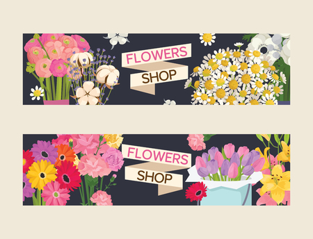 Bouquet vector beautiful floral backdrop with blossom flowers illustration flowering set of flowery tulip on valentine birthday holiday background. Standard-Bild - 126239727